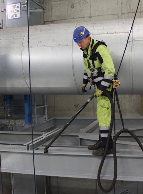 Kesselhausreinigung im RWE Eemshaven