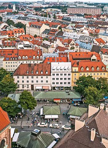 München - Begutachtung der Fassaden durch Industriekletterer