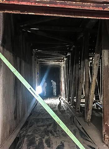 Reinigungstätigkeiten im Schacht in Dortmund