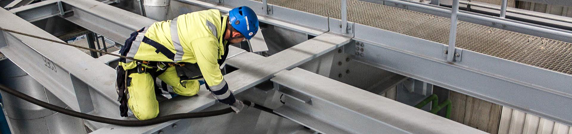 Tragwerksreinigung durch IBE Industrieservice GmbH