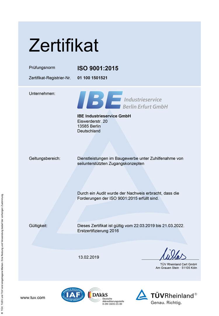 ISO**:9001-2015 Zertifikat (Deutsch)
