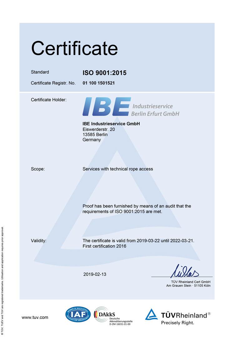 ISO**:9001-2015 Zertifikat (English)