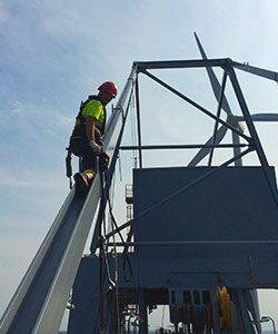 Kran-Montage durch IBE Industrieservice