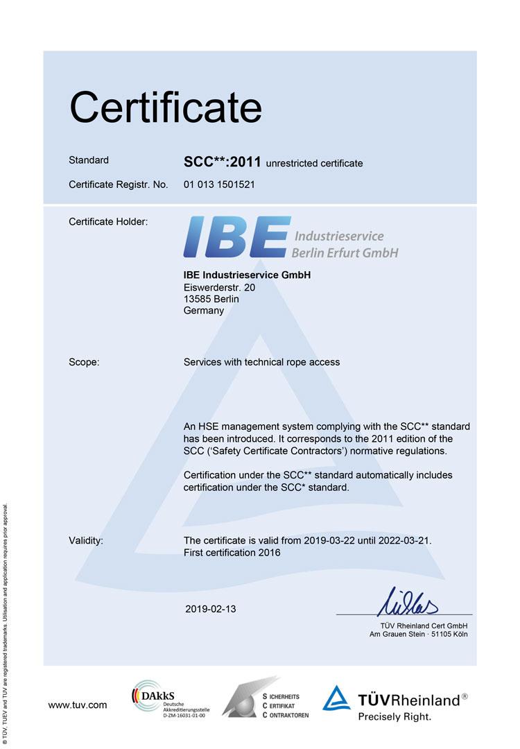 SCC**:2011 Zertifikat (English)