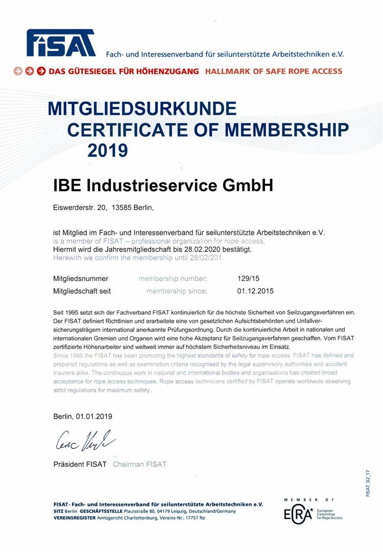 Fisat Zertifikat